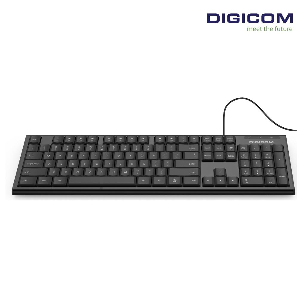 Digicom Wired Slim Keyboard DG- W12