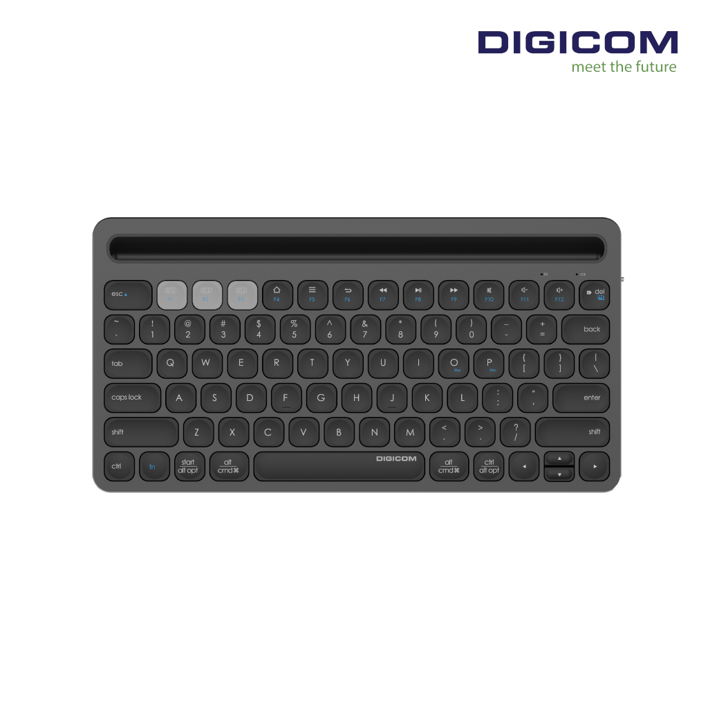 DIGICOM Multi-Device Bluetooth Keyboard DG-IK8500