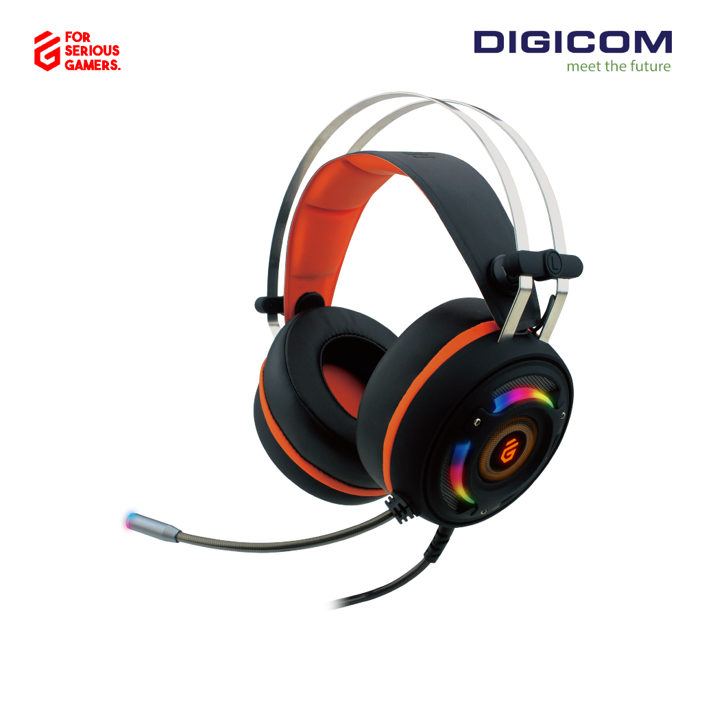 Digicom G90 Stereo Over Ear Sound Gaming Wired Headphone with Mic